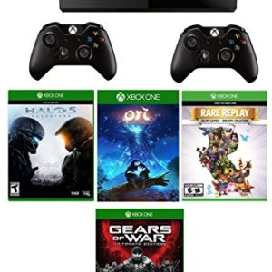 Xbox-One-1TB-Console-2-Wireless-Controller-4-Games-Deluxe-BundlesGears-of-War-Ultimate-Edition-Rare-Replay-Ori-and-the-Blind-Forest-Halo-5-Guardians-0