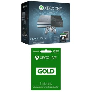 Xbox-One-1TB-Console-Halo-5-Guardians-Limited-Edition-Bundle-3-Month-Live-Card-Physical-Card-with-Code-0