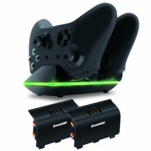 dreamGEAR-Xbox-One-Dual-Charging-Dock-Charge-up-to-two-Xbox-One-Controllers-Simultaneously-0